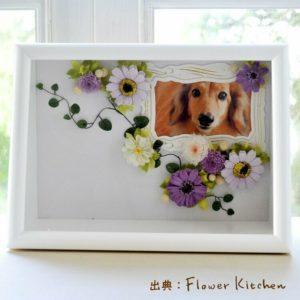 可愛いお花に囲まれた思い出の写真。【お供えフォトフレーム】